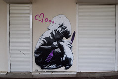 Love food (HBA_JIJO) Tags: streetart urban graffiti vitry vitrysurseine pochoir stencil animal art france hbajijo wall mur painting peinture murale paris94 children enfant spray lapin rabbit afk boy