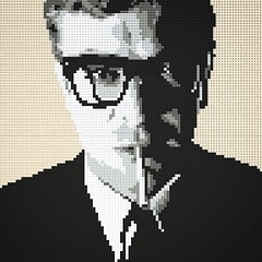 LEGO Mosaic - Michael Caine (daveh_design) Tags: instagramapp square squareformat iphoneography uploaded:by=instagram afol lego legomoc legobrickclub legomosaic michaelcaine davidbailey blackandwhite brickfan brickcentral