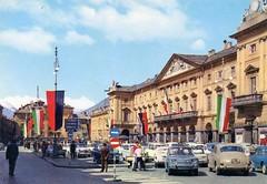 Aosta (baboon62) Tags: italy car vintage postcard renault oldtimer aurelia dauphine aosta lancia palace1839