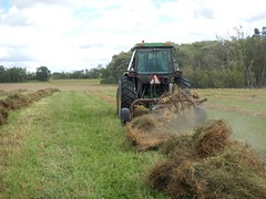 Flipping'r over! (Jeannette Greaves) Tags: flipping hay field hugh adfield wet weather