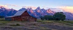 First Light (Jeff Clow) Tags: morning usa barn rural wyoming iconic jacksonhole iphone grandtetonnationalpark