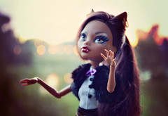 Hunting by the Rivers (EliMalone) Tags: nature werewolf out toy outdoors evening wolf doll freak schools mattel ghoul howling howl clawdeen monsterhigh