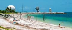 Radars (Pedro1742) Tags: beach blue radars people sea water sand fence steps metal rocks