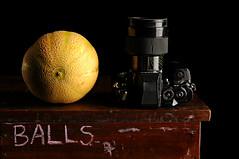 Melon and Nikon F3 (Studio d'Xavier) Tags: camera stilllife melon nikonf3 strobist