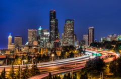 Bac si thm my in San Jose ngo mong hung (nem236) Tags: thu hep vung kin seattle buildings cityscape freeway hdr night skyline