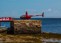 FJ ORD (BLEUnord) Tags: parc marin baiestecatherine fleuve river stlaurent stlawrence hlicoptre helicopter mare tide basse low