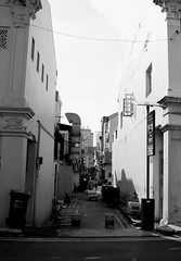 IMG_2914 (jumppoint5) Tags: shophouse alley contrast city urban street light shadows blackandwhite wire frame