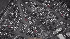 Car Graveyard (Stephen Ball Photography) Tags: colorsplash blackandwhite bw keaau bigisland hawaii hawaiianislands cars photoshop paradisehelicopters junkyard canon helicopter canon5dmkiii5d canoneos5dmarkiii 5dmarkiii ef100400mm canonef100400mmf4556lisiiusm
