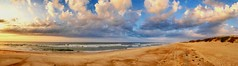 Ocracoke Beach Panorama (dianne_stankiewicz) Tags: scenic sand landscape outdoors nature beach panorama waves ocean coastal clouds ocracoke beautifulearth fantasticnature allnaturesparadise