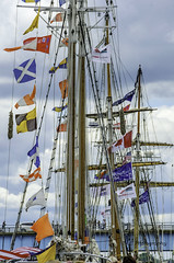flags, flags, flags (TAC.Photography) Tags: rigging ships tallships flags baycitytallships2016 masts tallshipfestival