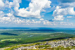 View from the top of Levi (ArtDvU) Tags: finland sunny day partly cloudy summer levi kittil tunturi fell lapland landscape