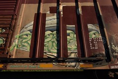 MERS (TheGraffitiHunters) Tags: graffiti graff spray paint street art colorful freight train tracks benching benched mers serving tray hands boxcar