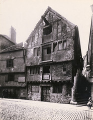 The Cooperage, Newcastle upon Tyne (Tyne & Wear Archives & Museums) Tags: theclose cooperage blackandwhitephoto oldphotographs newcastleupontyne tyneside victorian northeastengland interesting historic architecure w buttress support platform ground yesteryear building structure industry unitedkingdom fascinating unusual surreal blackandwhitephotograph digitalimage grain mark outdoors archives sky chimney blur stairs road stone pipe window frame glass door handle timber path shadow daylight industrialheritage people clothing crease debris wall roof standing impressive 3234theclose premises jwmawson dunnagematmerchant johnarthur cooper c1885 development construction heritage history historical heritagebuilding light post lamp attentive