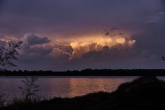 Calm Waters, Stormy Sky (Tom Slate) Tags: storm river water clouds