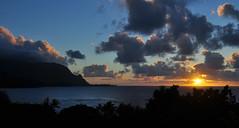 Sunset at Hanalei Bay (River Wanderer) Tags: hanaleibay hanaleibayresort hbr sunset sky clouds water nikon d5000 18200