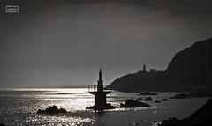 Faro y ria/ Lighthouse and ria (Jose Antonio. 62) Tags: spain espaa asturias avils backlight contraluz beautiful bw blancoynegro blackandwhite water agua lighthouse faro wewanttobefree