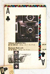 Camera Ace (Lydia's Post) Tags: apc atc alteredplayingcard alteredart collage camera blackandwhite playingcard