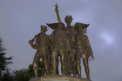 WWI Statues up Close (dcnelson1898) Tags: olympia washington pacificnorthwest longexposure morning capitol government memorial worldwari bronze usarmy usnavy usmc marines nurse medical wingedvictory clouds nikond750