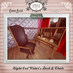 I { DH } Night Owl Writer's Desk & Chair (irrie Ember { irrie's Dollhouse }) Tags: hplovecraft lovefest festival vintage secondlife originalmesh irriesdollhouse