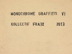Monochrome Graffiti VI (aestheticsofcrisis) Tags: street art urban intervention streetart urbanart guerillaart graffiti graffity berlin germany europe kreuzberg xberg monochromegraffiti fra32 stencil schablone pochoir