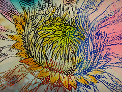 DSC0966863 (scott_waterman) Tags: scottwaterman painting paper ink watercolor gouache lotus lotusflower detail