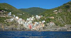 Riomaggiore from Hire Boat (Nifty_Shoes) Tags: holidaysnaps cinqueterre italy summer 2016 corniglia riomaggiore manarola