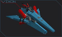 High-Performance Spacecraft: VIXON (Cagerrin) Tags: lego system technic space starfighter spacecraft spaceship starfox starfoxish 3d ldd legodigitaldesigner