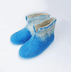 Hand felted booties (37) (smoothmetaldesign) Tags: handmade felting felt felted slippers home shoes natural