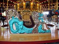 Guarding the Band Organ (BunnyHugger) Tags: amusementpark carousel chariot dragon herschell newphiladelphia ohio tuscorapark