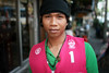 Krung Thep, the city of angels (slow paths images) Tags: thailand bangkok krungthep thecityofangels asia southeastasia portrait streetportrait face man youngman thai pose driver taxidriver scarf coulourful pink travel fredcan