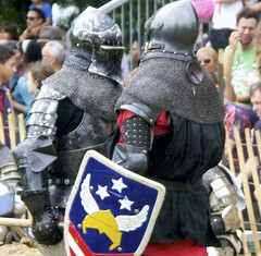 Knights Conference (jglsongs) Tags: festival medieval medievalfestival nyc newyork newyorkcity manhattan inwood forttryonpark joust knight knights armor