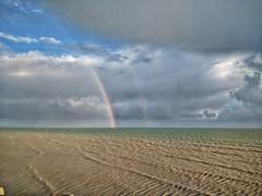 Double Rainbow off Worthing Pier (Ian Campsall) Tags: doublerainbow rainbow nexus6p worthing england englishseaside greatbritian snapseed
