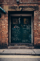 brutal (@mr_t_fuchs) Tags: street door leica portrait colour london lines 50mm still grafiti bricks social council straight f56 summilux brutalist