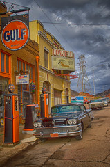 Lowell: a photographer's dream (Anitab) Tags: arizona car gulf funky gas pump erie bisbee hdr lowell