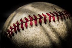 Strike 1 (Daren N.) Tags: old shadow red macro ball baseball mondays stiches macromondays