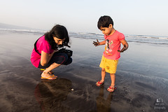 Amazing Konkan (JoVivek) Tags: family sun india holiday fish beach fun coast sand starfish daughter resort wife curiosity konkan punephotographer vivekjoshi cimmercialphotography vivekjoshiphotography adiraimaging