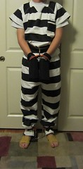 IMG_5945 crop (bob.laly) Tags: uniform chain jail shackles handcuffs prisoner jumpsuit inmate