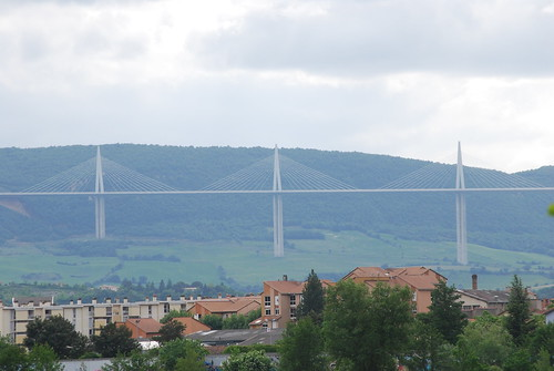 View of the Millau bridge from Camping Les Rivages