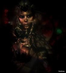 Deimos Qunhua (VeraCruza) Tags: portrait art face dark artwork flickr hell sl fantasy secondlife apocalyptic flickrunitedaward