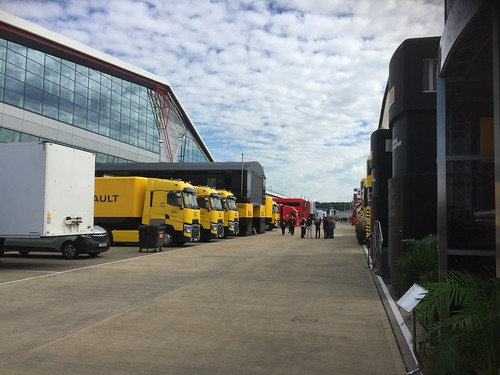 The paddock during Formula One In Season Testing at Silverstone, July 2016