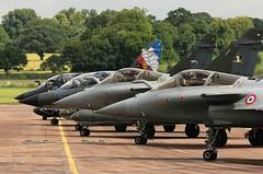 Jockeys (crusader752) Tags: lafayette fighter aircraft jet mirage fighters jetfighter lineup dassault riat 2016 rafale raffairford 2000n rafalec frenchairforce larmeedelair
