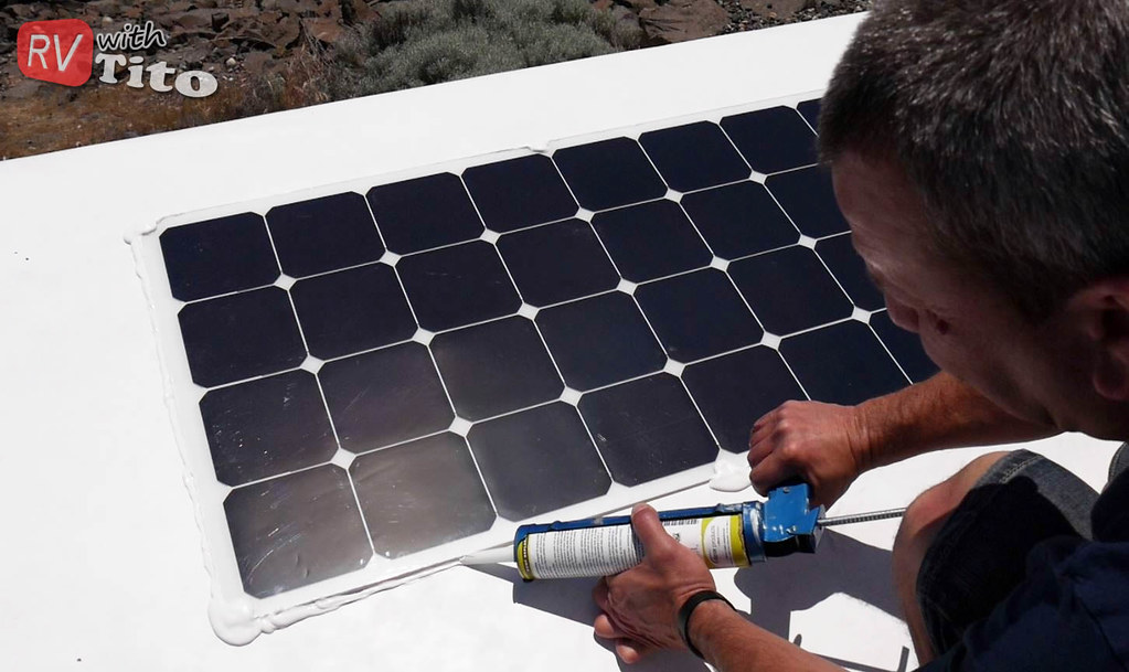 How To Install A Flexible Solar Panel On An Rv Rv With Tito