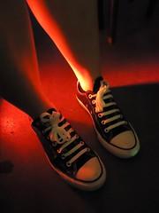 Black Converse: No.4 (WatermelonHenry) Tags: black feet shoes pumps pair converse laces allstars chucktaylor converseallstars blackpumps conversepumps