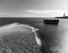 Shelf, Stack, Lighthouse (thecheekyscamp) Tags: lighthouse sea longexposure le blackandwhite bw blackwhite monochrome clouds contrast weymouth