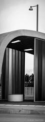 Groningen Verticaal 5 (redijkstra) Tags: groningen groningenverticaal hoogkerk indevoetsporenvan lantarenpaal lijnenspel transferium verticaalpanorama wachtruimte zwartwit