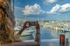 Always the photographer (tquist24) Tags: connecticut hdr hww newlondon nikon nikond5300 onthewaterfront thamesriver wanda boat boats cellphone clouds date dinner geotagged girl hair harbor iphone photographer restaurant river sky water window woman unitedstates bestdateever marina romantic