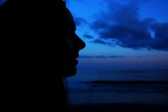 Who we are (Sarah Louise Schedler) Tags: travel blue sunset sea me silhouette clouds islands tenerife canary