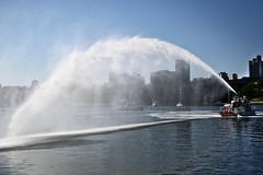 Showboating (dVaffection) Tags: boat showboat firefighter fireboat falsecreek vancouver