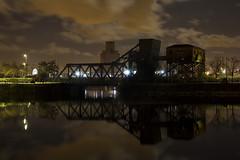 Egerton Bascule Bridge (David Chennell - DavidC.Photography) Tags: birkenhead night dock reflection bridge basculebridge merseyside egertonbasculebridge
