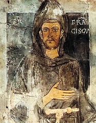 Oldest known portrait in existence of St. Francis of Assisi (1190-1226), dating back to his retreat to Subiaco, 12231224, depicted without the stigmata (aureole). (mike catalonian) Tags: saintfrancis painting fresco subiaco italy portrait 1223 xiiicentury assisi